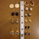 Exchangeable Goldtone Earring Set - Nine Earrings in One