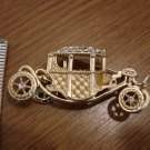 Goldtone Vintage Car Pin embellished with Rhinestones