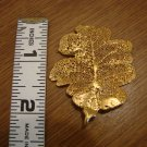 Gold tone Oak Leaf Pendant