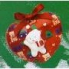 Avon Decoupage Teddy Ornament Heart Original Box