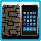Designer Case Black Plaid Cover iPhone 3G 3GS ~USA~