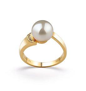 White Japanese Akoya Ring -
