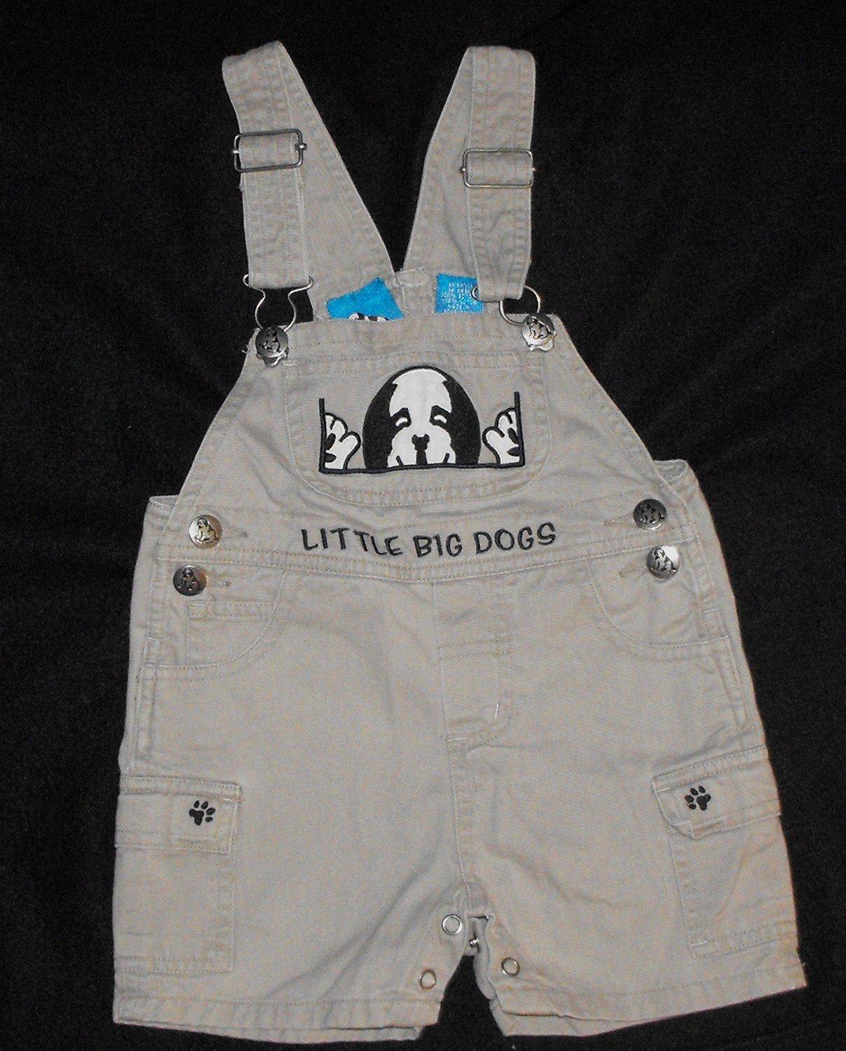 Baby Boys 12 month Big Dog Short Overalls