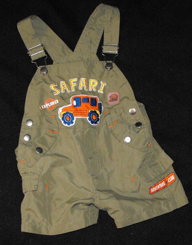 Baby Boys 12 month Safari Shorts Overalls