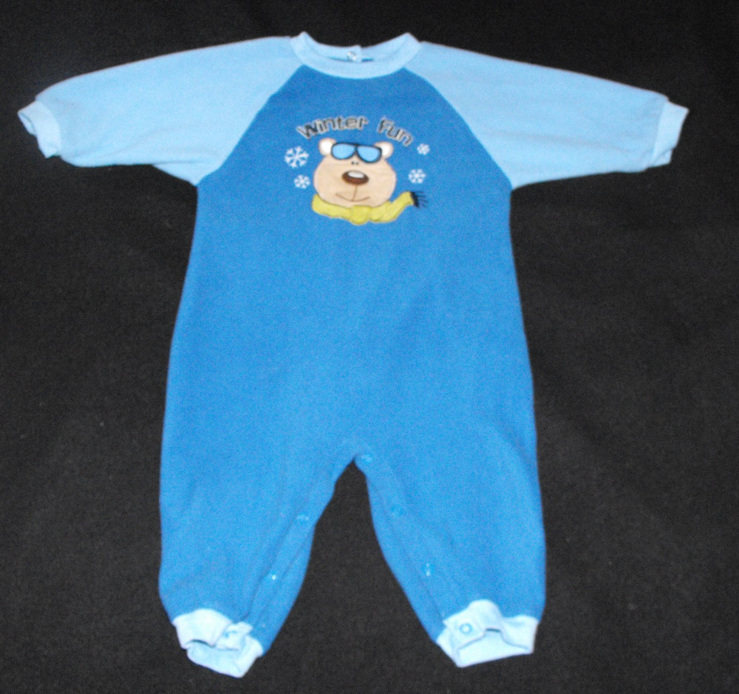 Okie Dokie Baby Boys 12 month Fleece Romper Outfit