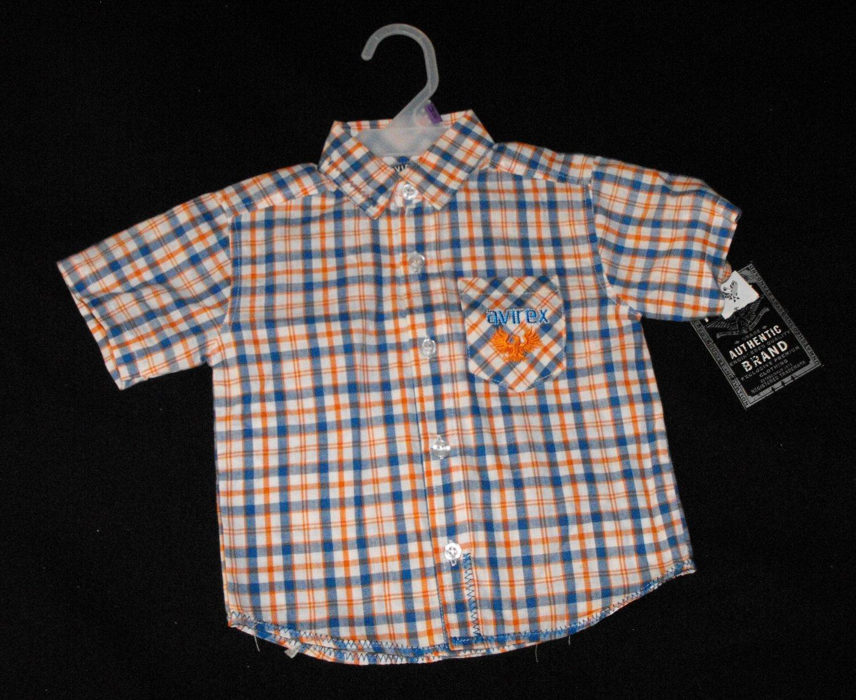 Avirex Baby Boy 12 Months Button Up Plaid Shirt