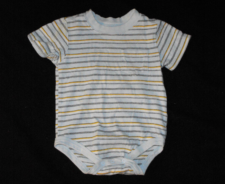Faded Glory Boys 12 Months Short Sleeve Bodysuit Creeper Shirt