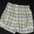 Baby Boys 12 month TKS Baby plaid  Elastic Waist Shorts