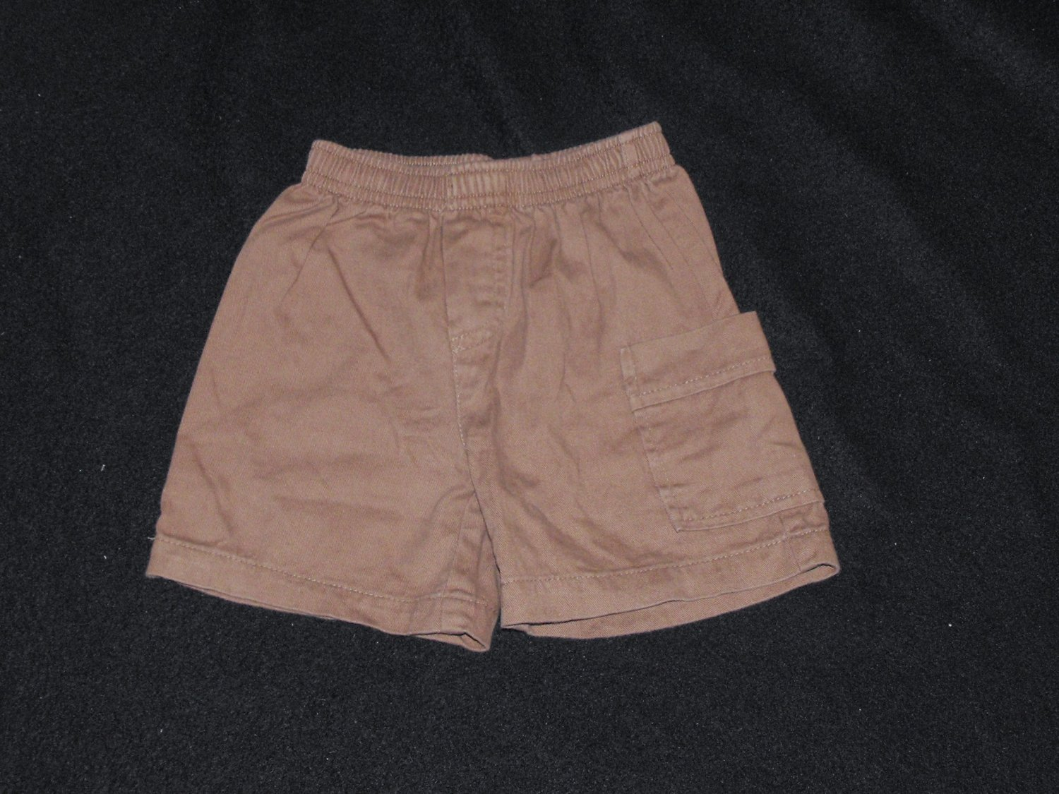 Baby Boys 12 month Brown Elastic Waist Shorts