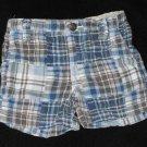 Baby Boys 12 month Genuine Kid Madras Plaid Adjustable Waist Shorts