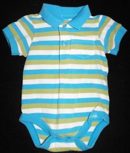 *SOLD~CHILDREN'S PLACE BABY BOY 0-3 MONTHS POLO SHIRT ONESIE