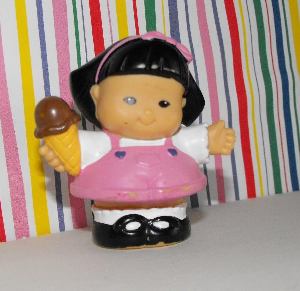 Fisher Price Little People Sonya w/ Ice Cream Cone