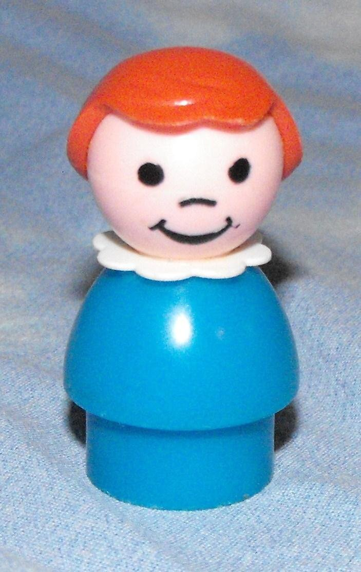 Vintage Fisher Price Little People Blue Girl