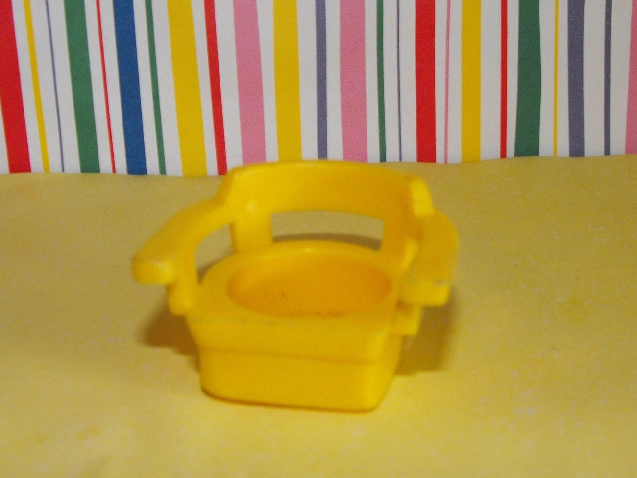 Vintage Fisher Price Litttle People Yellow Table Chair