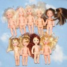 KELLY & FRIENDS NUDE DOLL LOT OF 9