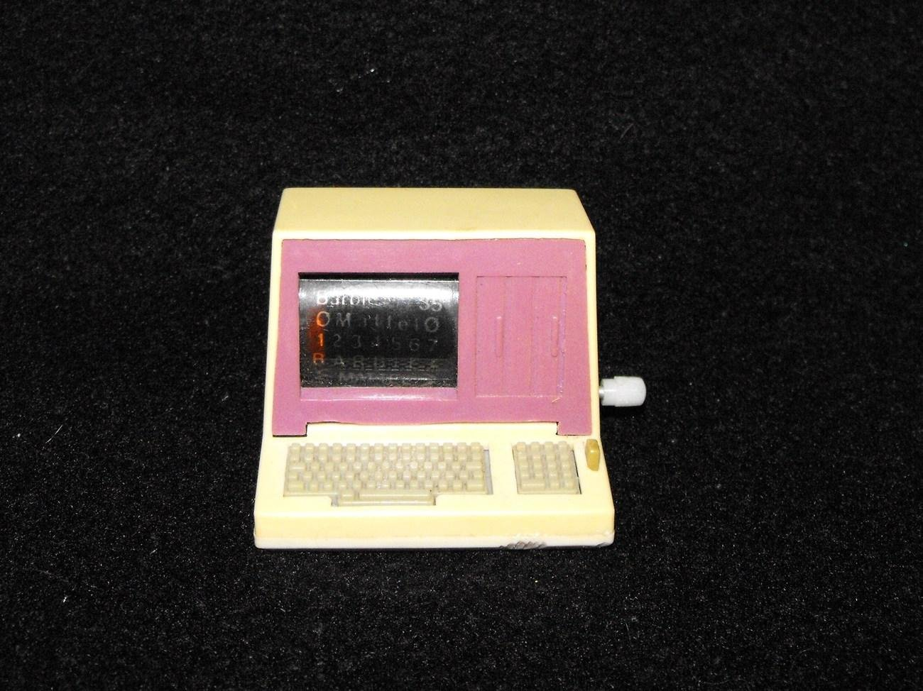 Vintage Barbie Action Accents Windup Computer Works