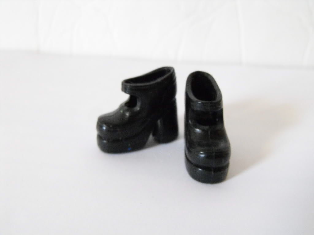 Barbie Black Mary Jane Style Shoes Heels