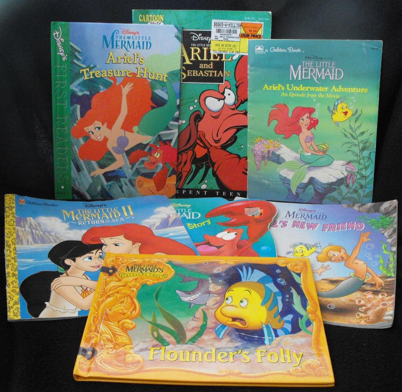 12*SOLD~DISNEY'S THE LITTLE MERMAID BOOK LOT