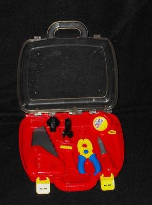 *9/16*SOLD~KIDS TOOLS SET CARRY CASE TAPE MEASURE HAMMER SAW CUTE!