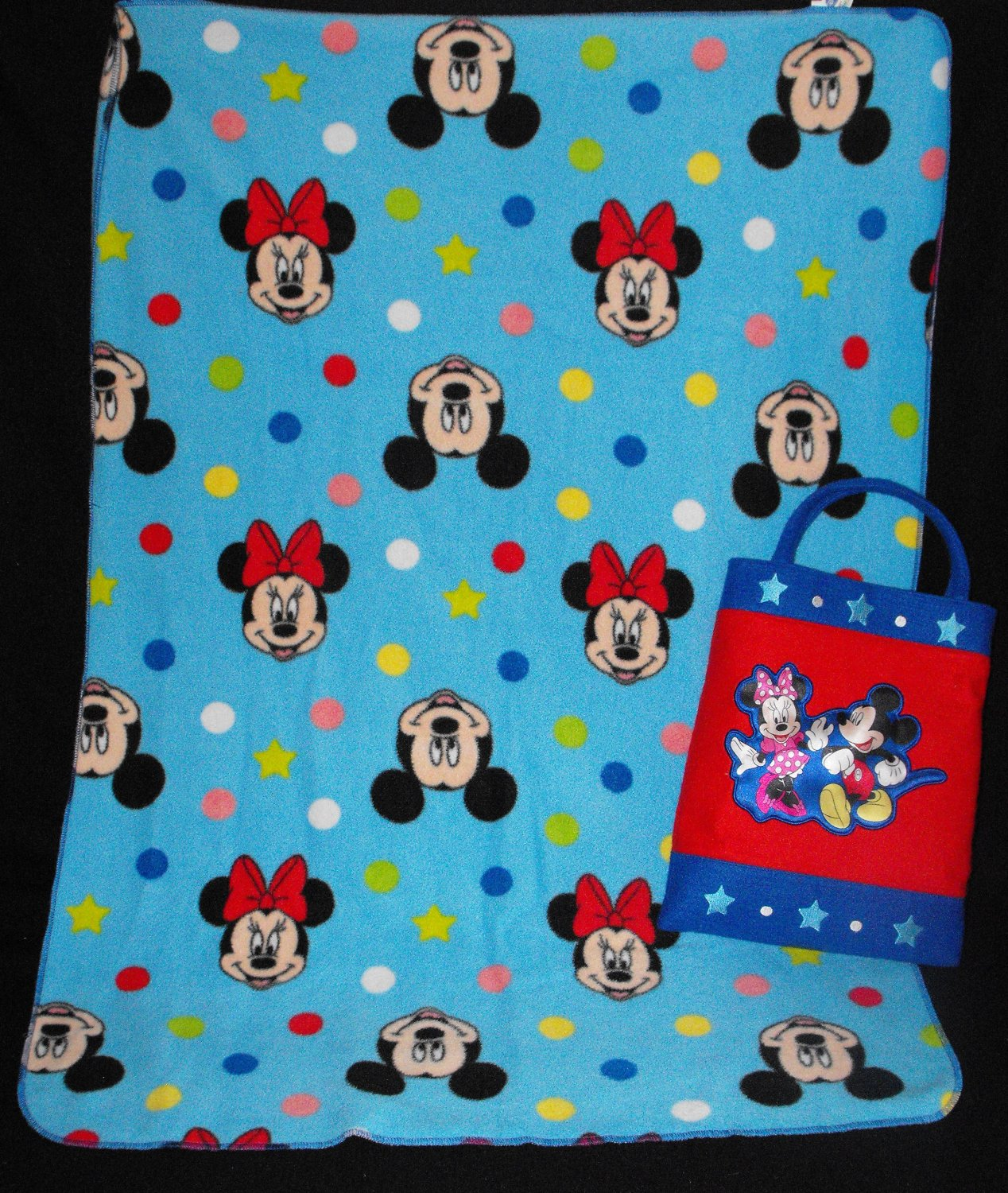*SOLD~Awaiting Feedback~Mickey Mouse Clubhouse Avon Toddler/Receiving Blanket w/ tote