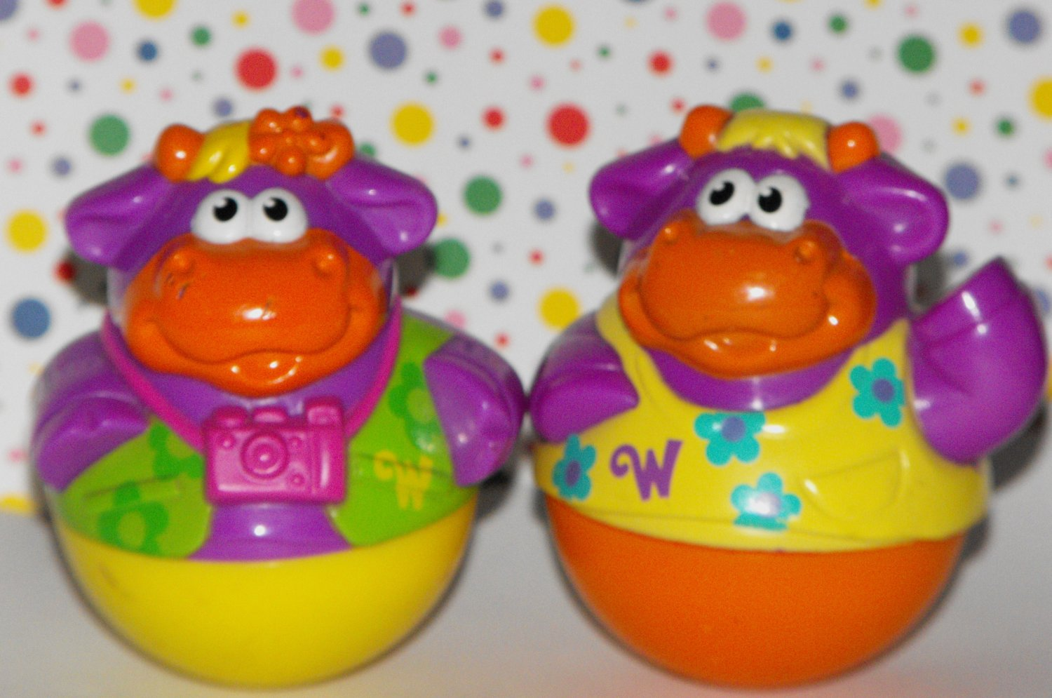 *12/14*SOLD~Playskool Weebles Weebles Weebleville Town Center Cow Parts