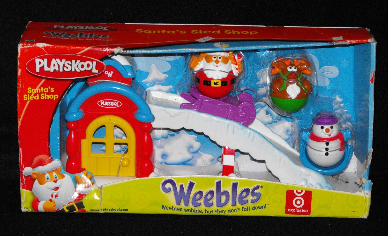 *11/16*SOLD~Playskool Weebles Santa's Sled Shop Target Exclusive