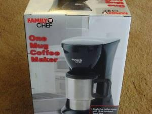 ONE CUP THERMAL COFFEE MAKER/POT INSULATED TRAVEL MUG