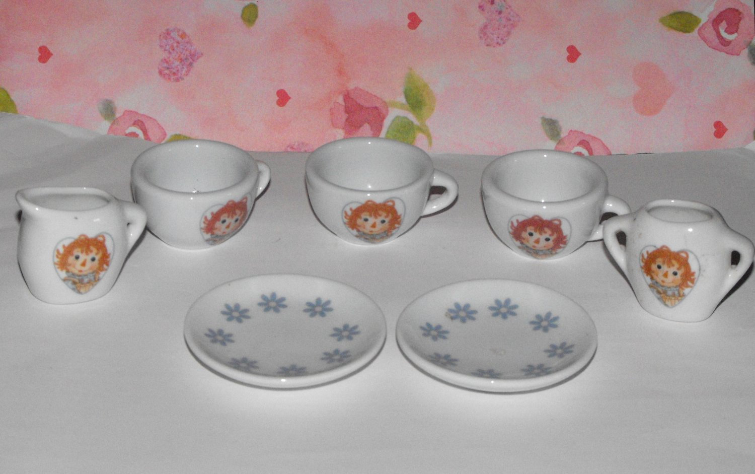 SCHYLLING RAGGEDY ANN TEASET INCOMPLETE PARTS LOT