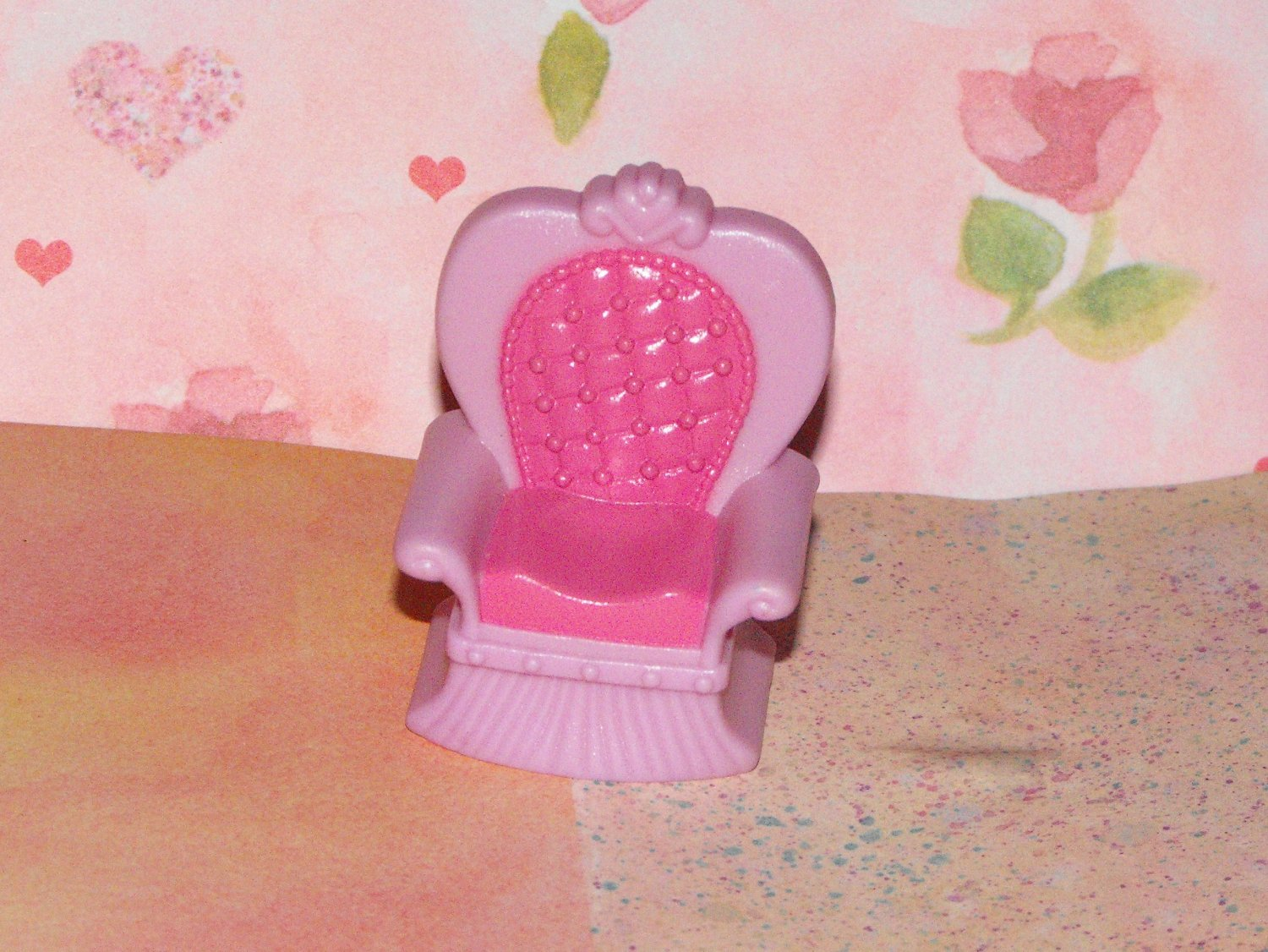 Polly Pocket  Dollhouse Kelly Size Castle Purple Throne Chair