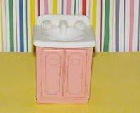 Fisher Price Loving Family Dream Dollhouse 1993 Bathroom Vanity
