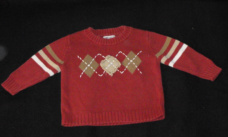Cherokee Modern Argyle Style Sweater Baby Boys 18-24 Months