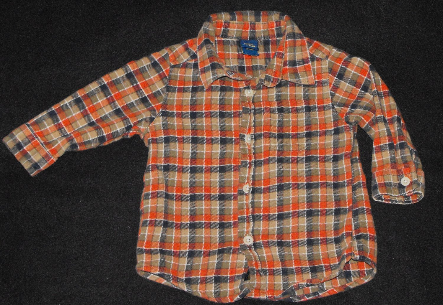 Osh Kosh Baby Boys 18-24 Months Plaid Flannel Button Up Long-Sleeve Shirt