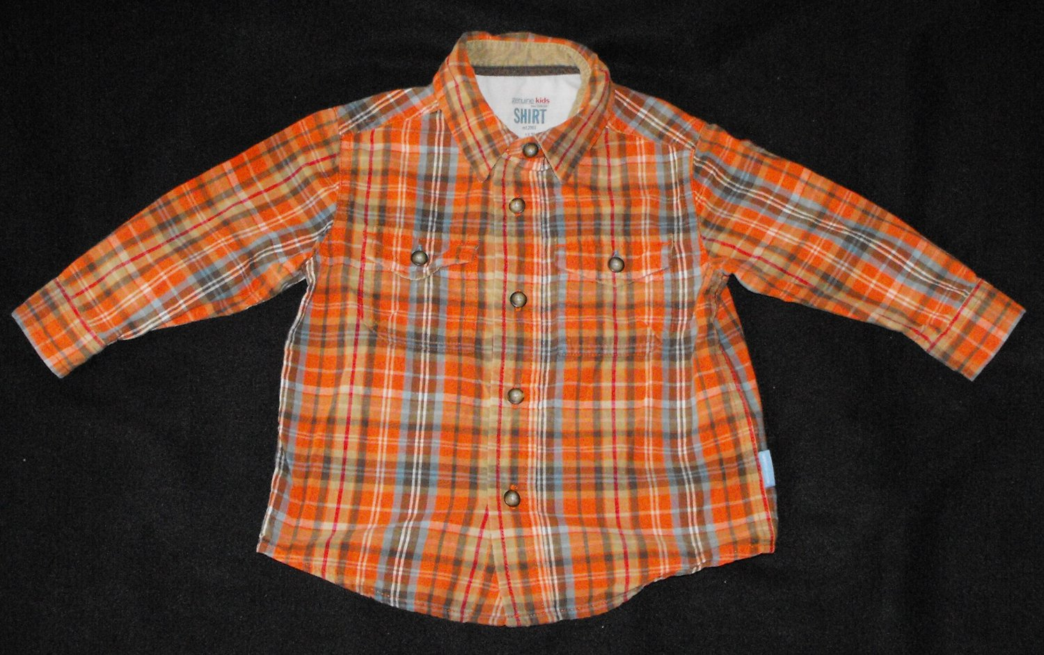 *9/15*SOLD~Genuine Kids by Osh Kosh Baby Boys 18-24 Months Plaid  Button Up Long-Sleeve Shirt