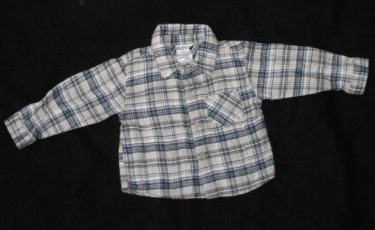Boyz by Nanette Baby Boys 18-24 Months Plaid  Button Up Long-Sleeve Shirt