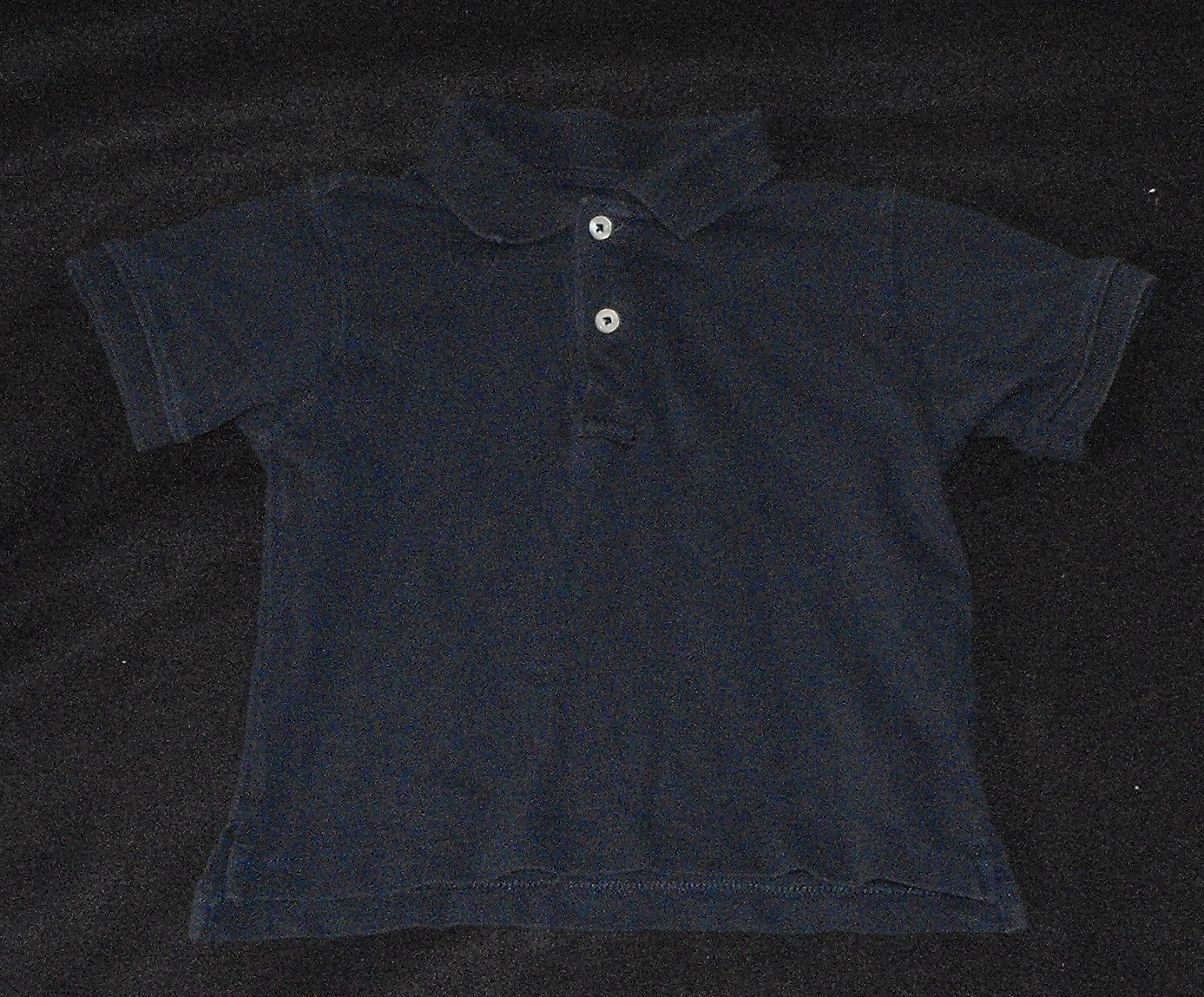 The Children's Place TCP Baby Boys 18 Months Blue Longsleeve Polo