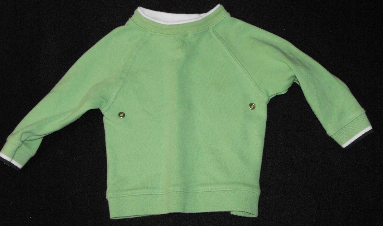 12*SOLD~George  Baby Boys 18-24 Months Bright Green Sweatshirt