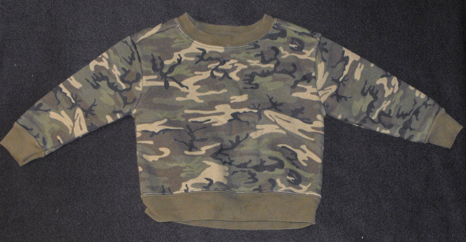 Athletic Works Baby Boys 18 Months Camo Sweatshirt