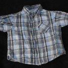 Arizona Jean Co. Baby Boys 18-24 Months Shortsleeve Plaid Button Up Shirt