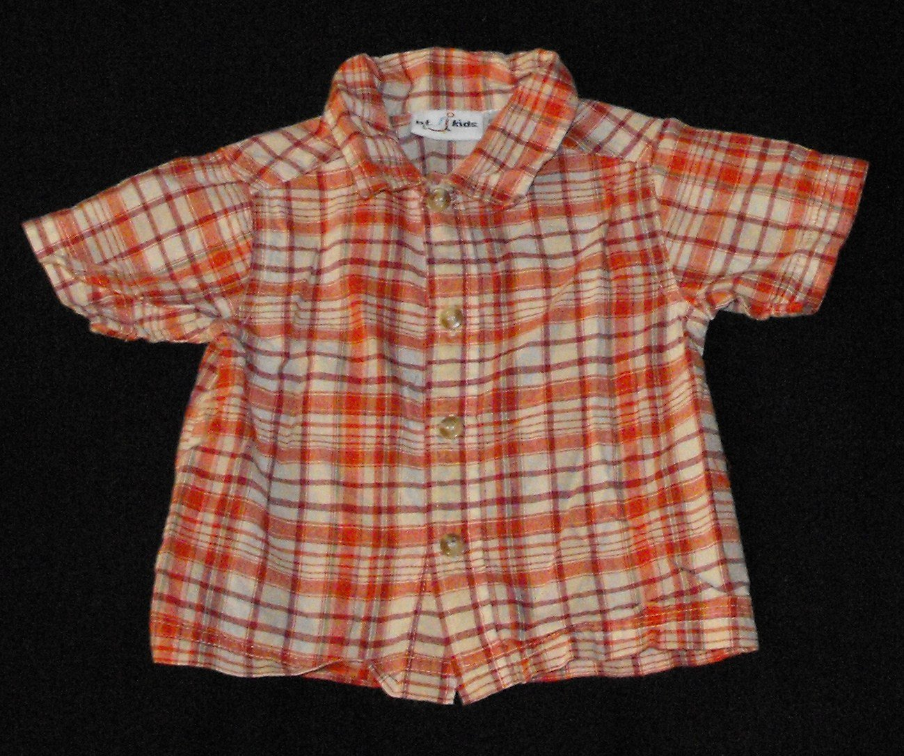 BT Kids (Sears) Baby Boys 18-24 Months Shortsleeve Plaid Button Up Shirt