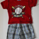 Bon Bebe Toddler Baby Boys 18 Months Baseball Shorts Outfit