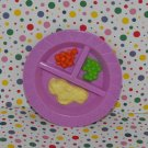 Big Sister Dora the Explorer Twins Dolls Purple Feeding Plate Dish