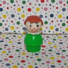 Vintage Fisher Price Little People Green Girl