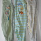 Carter's Children's Place Baby Boy  3-6  Months Sleepers Lot of 3