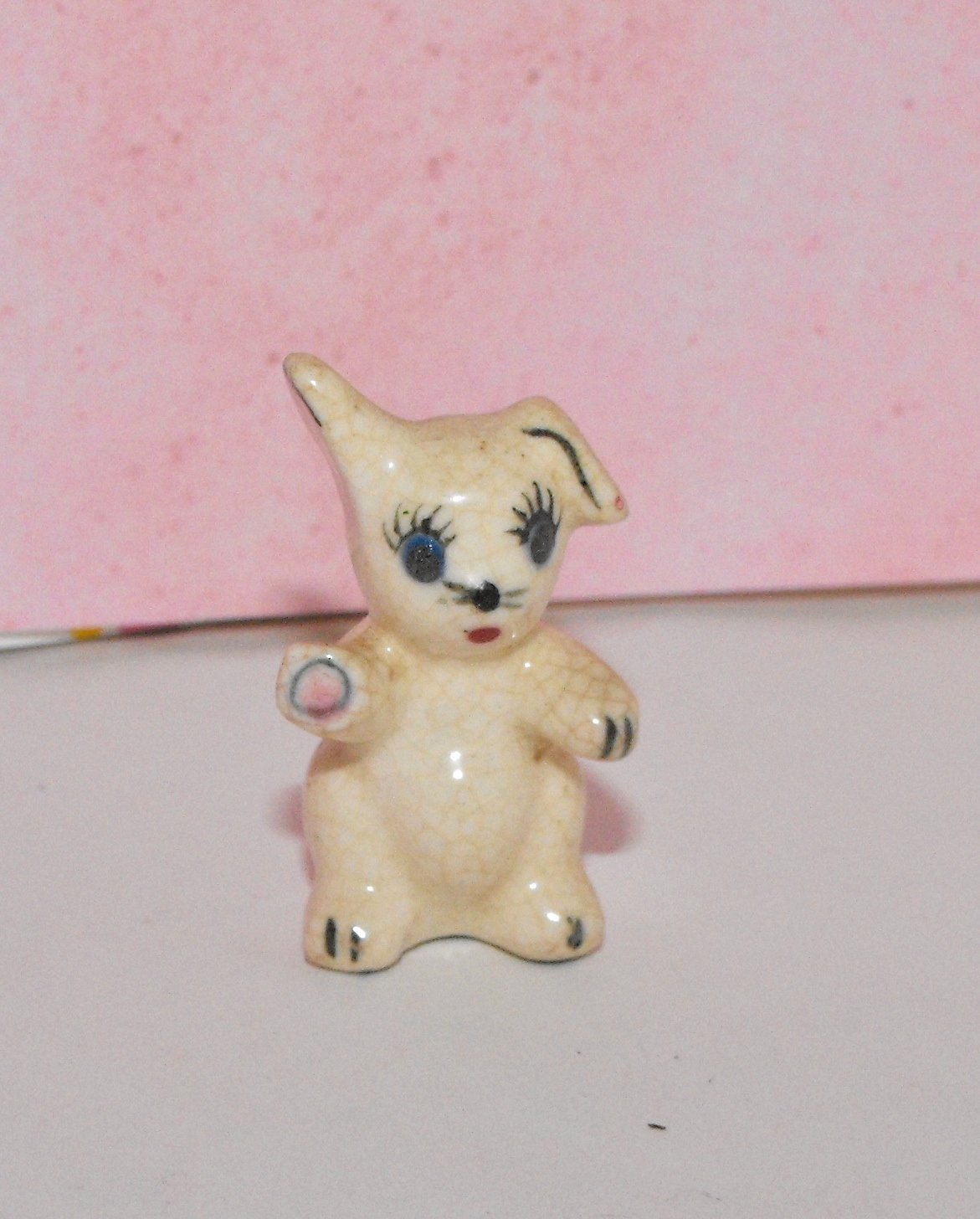 Miniature Bunny Rabbit Funny Bunny Figurine Made in Japan