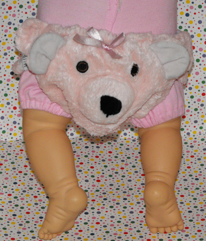Noah's Ark Baby Girl Plush Pink Bear Diaper Cover Photo Prop?