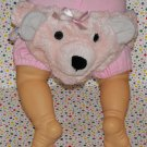 Noah's Ark Baby Girl Plush Pink Bear Diaper Cover Photo Prop?