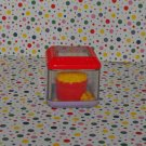 Fisher Price Peek A Blocks Big Top Circus Food Block Bucket of Popcorn