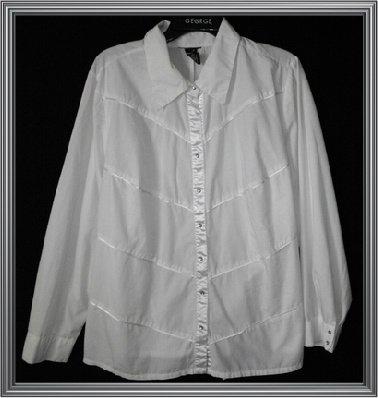 Lane Bryant? Womens Plus Size Dress Shirt Size 18/20 Longsleeve