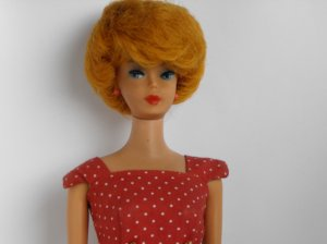 Vintage 1961 Titian/ Ash Blonde Bubble Cut Barbie