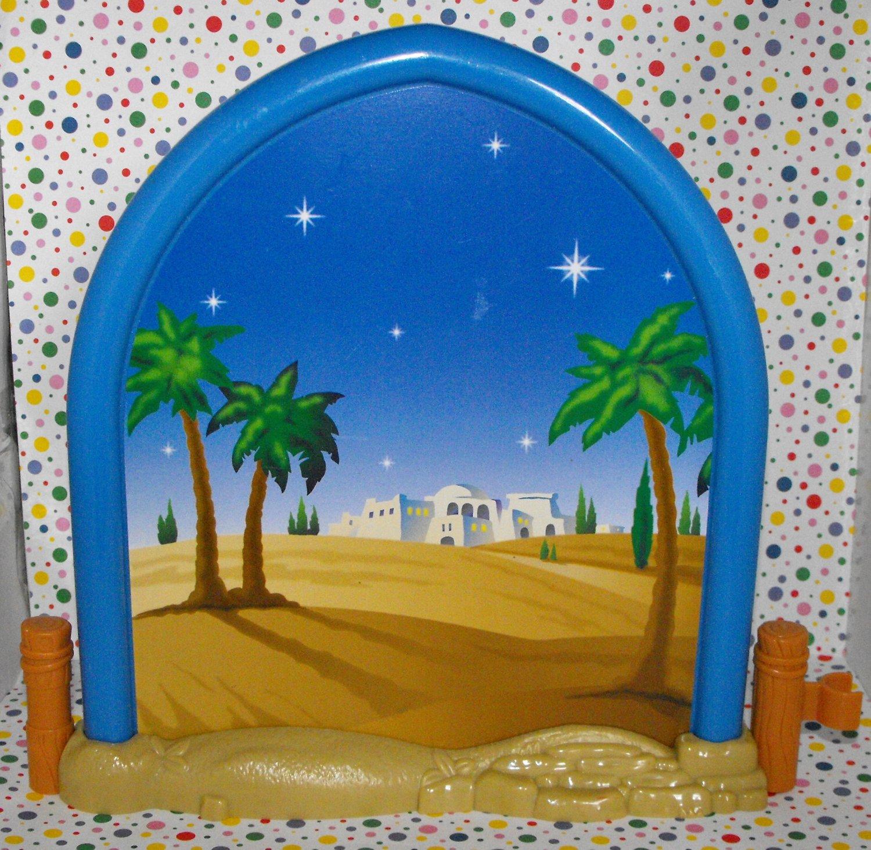 *12/15*SOLD~Fisher Price Little People Inn At Bethlehem Desert Fence Part